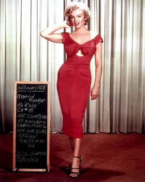 Marilyn in a costume test for Niagara, 1953