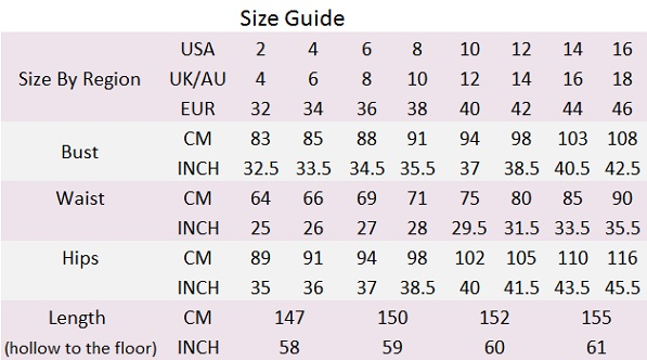 ST size guide