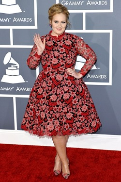 Adele in vintage look valentino dress
