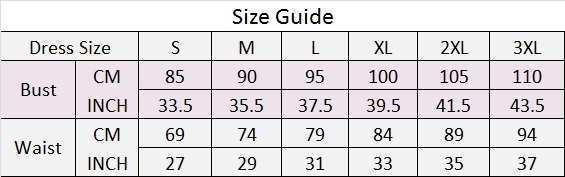 G new size chart s-3xl