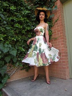 Miss Lark Bahar in vintage Marianne dress