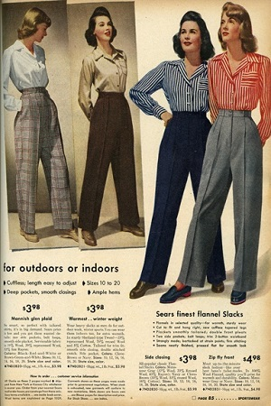 1940s-sears slacks catalogue