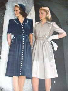 1940s shirtdresses