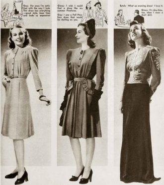 1940s women's fashion catalogue