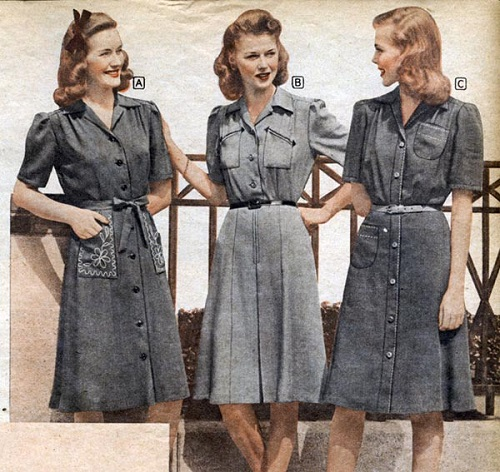 1942 shirtdresses