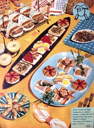 1950s party food