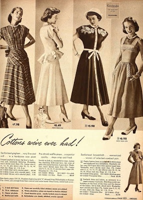 Vintage dress catalogue late 1940s