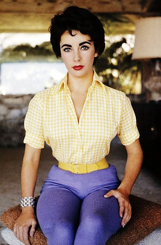 Elizabeth Taylor in pants by Sanford Roth 1954