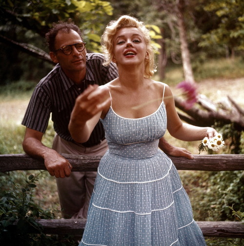 Marilyn Monroe and Arthur Miller by Sam Shaw 1957