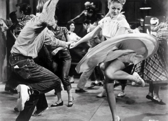 Rock and roll and swing dancing in 1950s