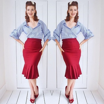 jessica-in-the-siren-burgundy-vintage-skirt