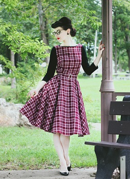 the-mad-girl-in-red-tartan-swing-dress